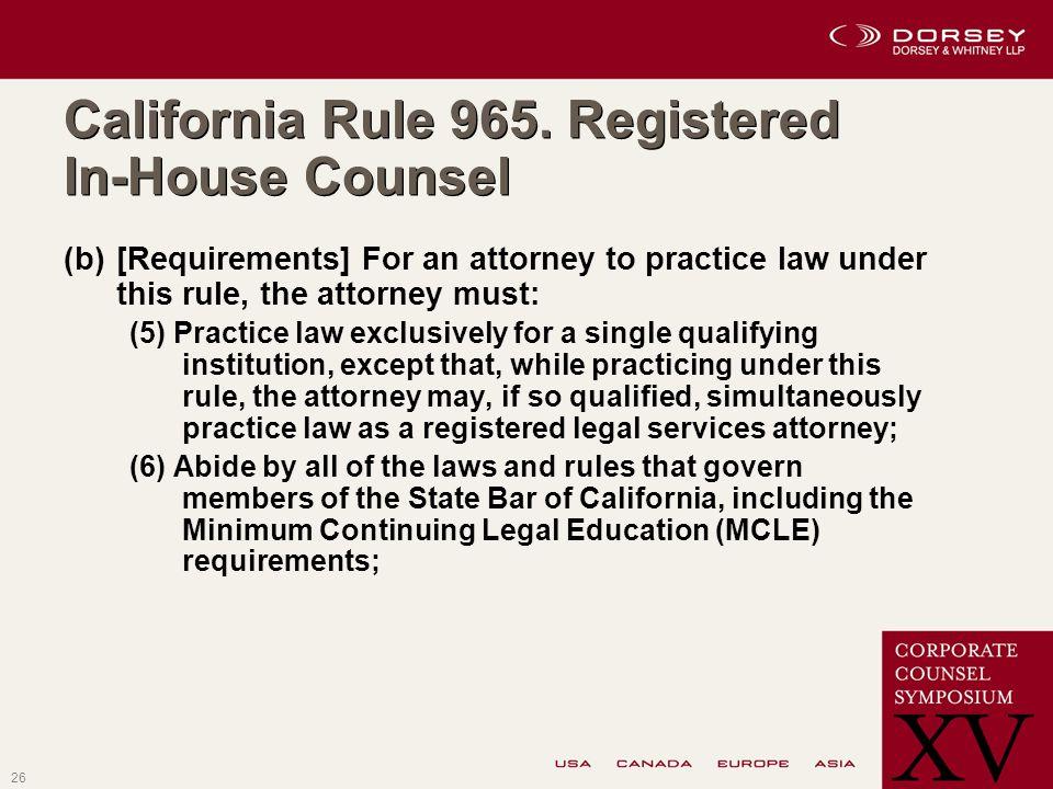 26 California Rule 965.