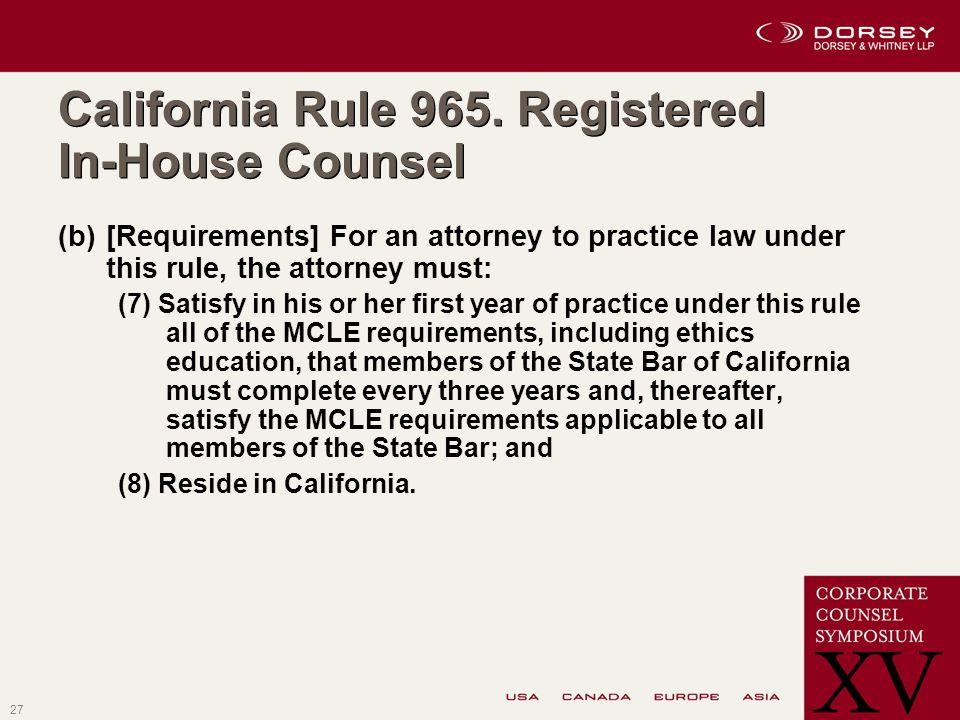 27 California Rule 965.