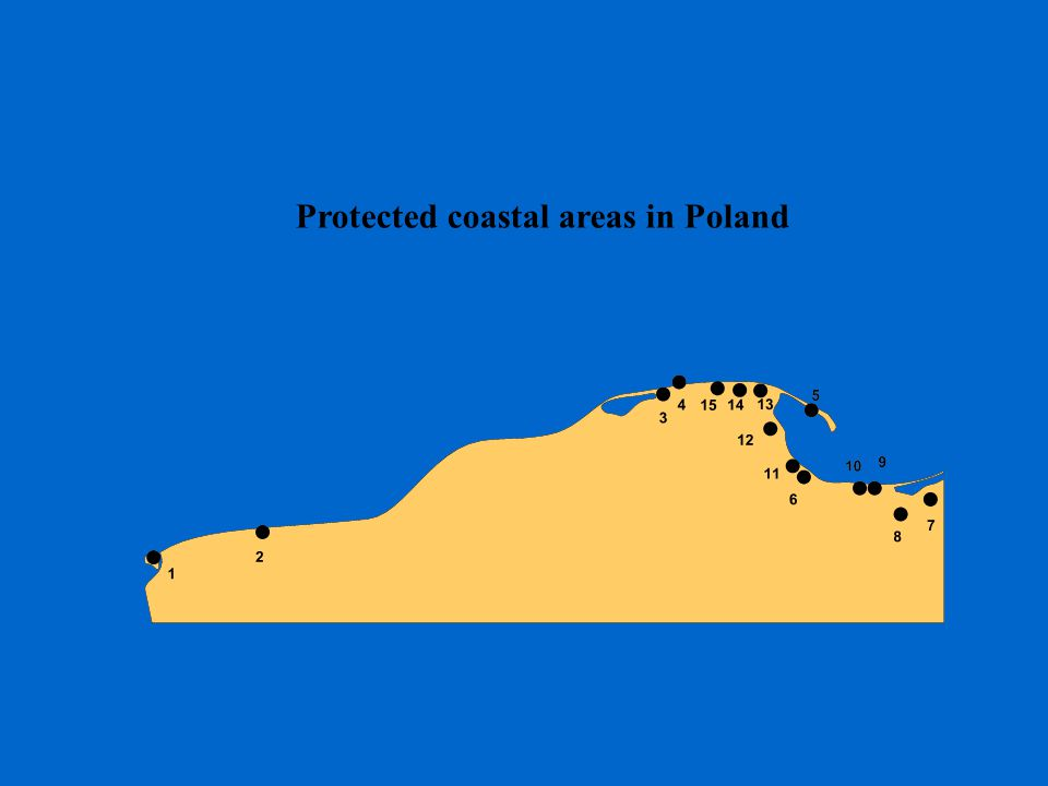 Protected coastal areas in Poland