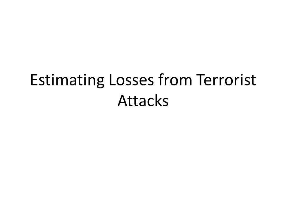 Estimating Losses from Terrorist Attacks