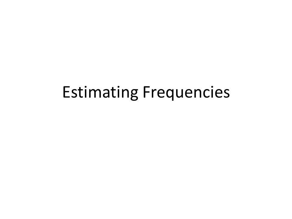 Estimating Frequencies