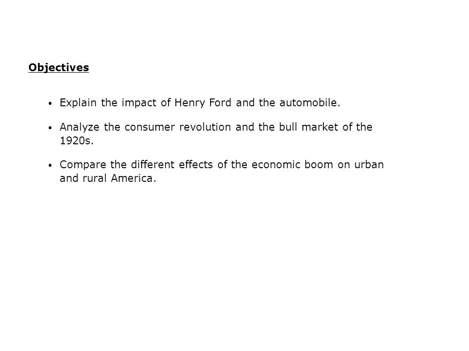 20.1 - The Economy During the 1920s