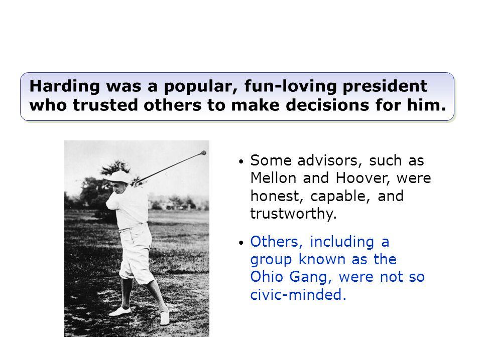 Unlike Progressives, Harding favored business interests and reduced federal regulations.