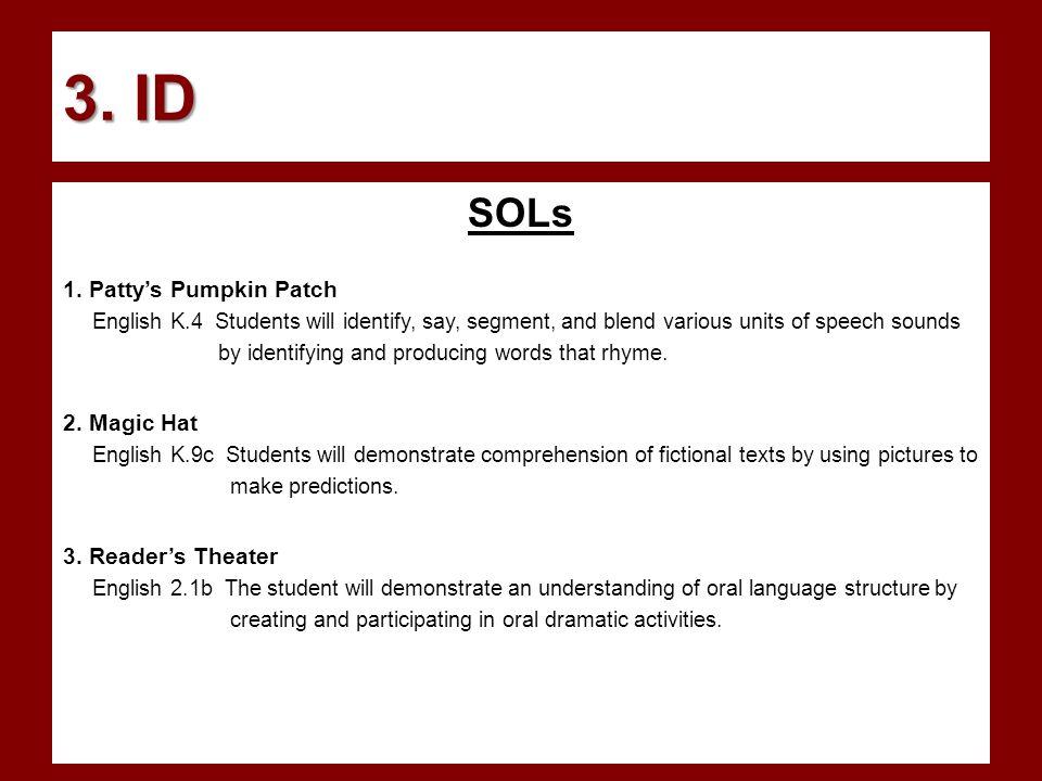 3. ID SOLs 1.