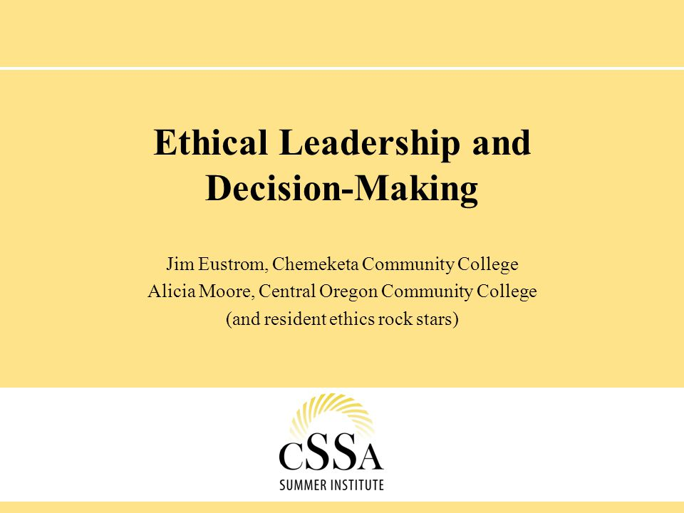 Strategies for Ethical Decision Making