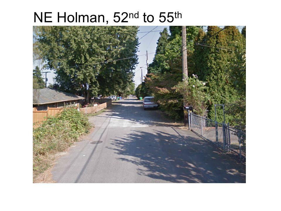 NE Holman, 52 nd to 55 th