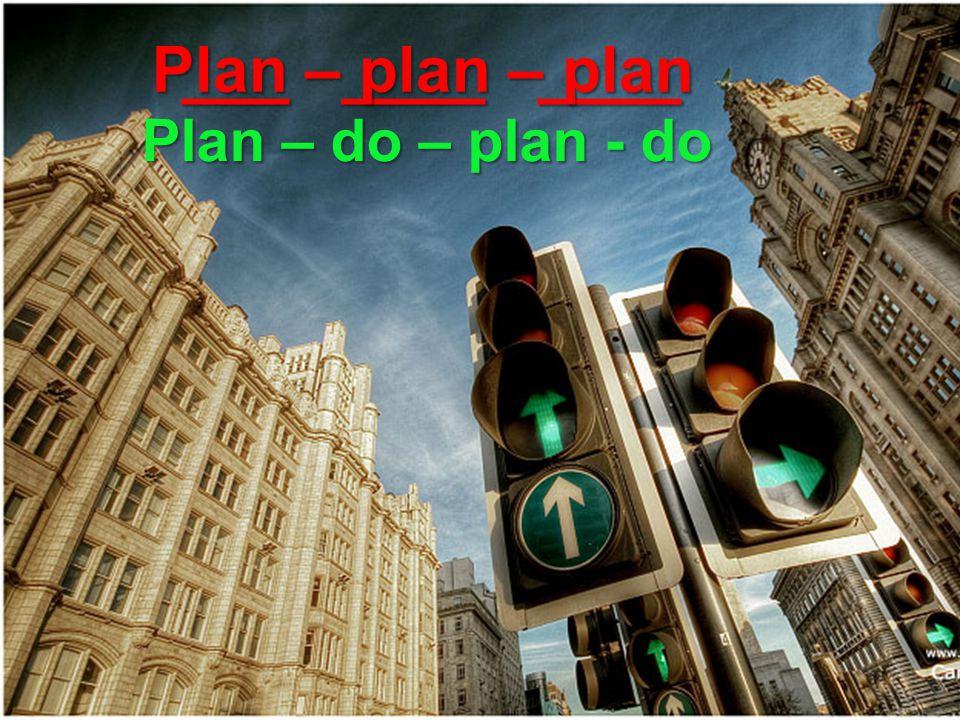___ ____ ____ ___ ____ ____ Plan – plan – plan Plan – do – plan - do