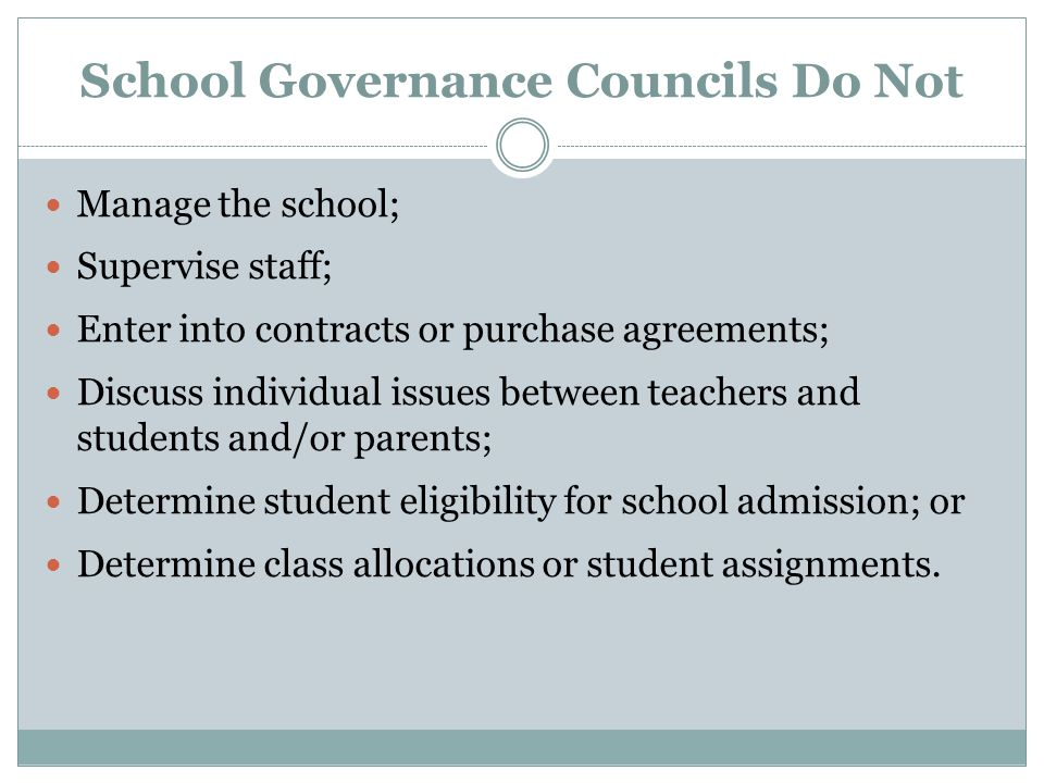 School Governance Councils If you have any questions please contact: Jenny Correa, Principal Dr.
