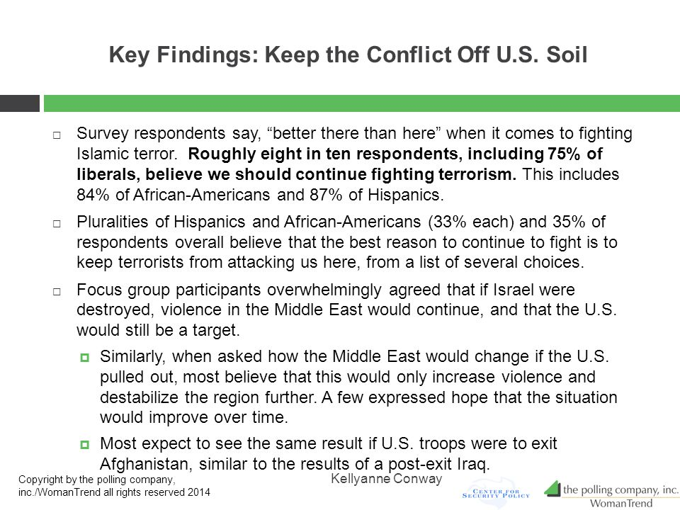 Key Findings: Keep the Conflict Off U.S.