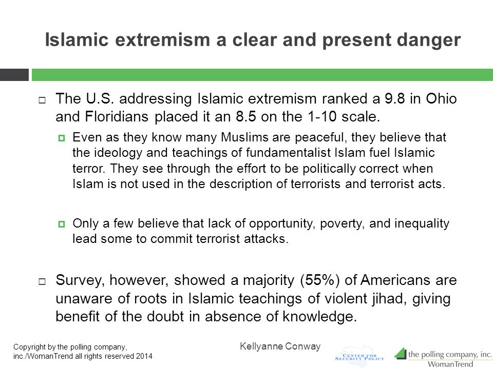 Islamic extremism a clear and present danger  The U.S.
