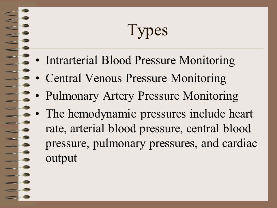 Direct versus Derived Parameters Direct hemodynamic parameters are obtained straight from the monitoring device for example the heart rate, and various pressures such as arterial and venous pressures Derived hemodynamic pressures are calculated using the direct hemodynamic data; they include such measurements such as cardiac index, mean arterial blood pressure (MAP), and stroke volume (SV)