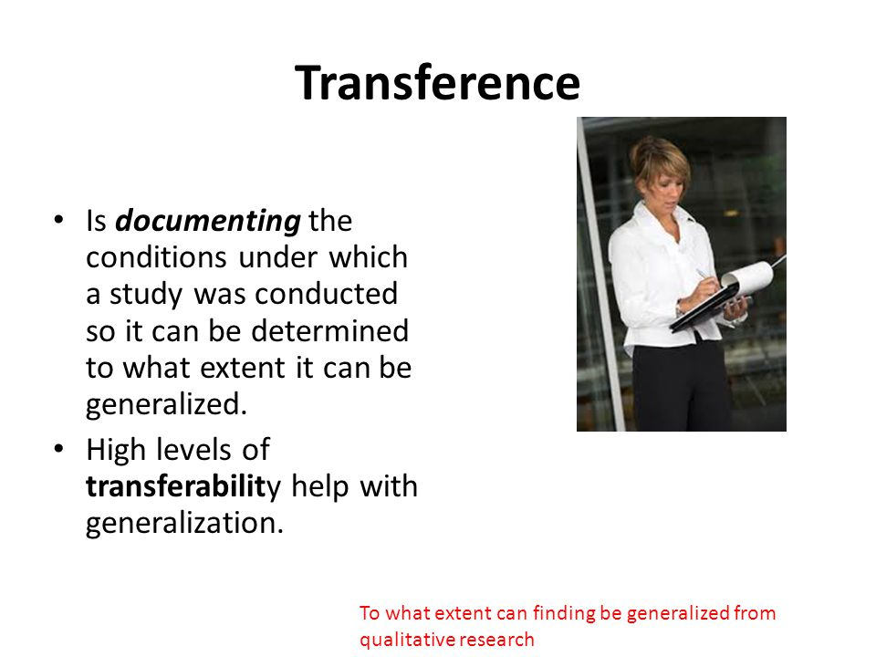 How do you get transference.
