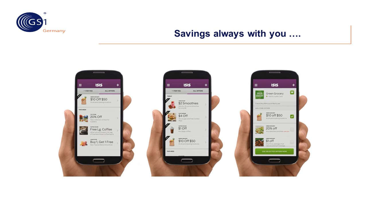 Savings always with you ….