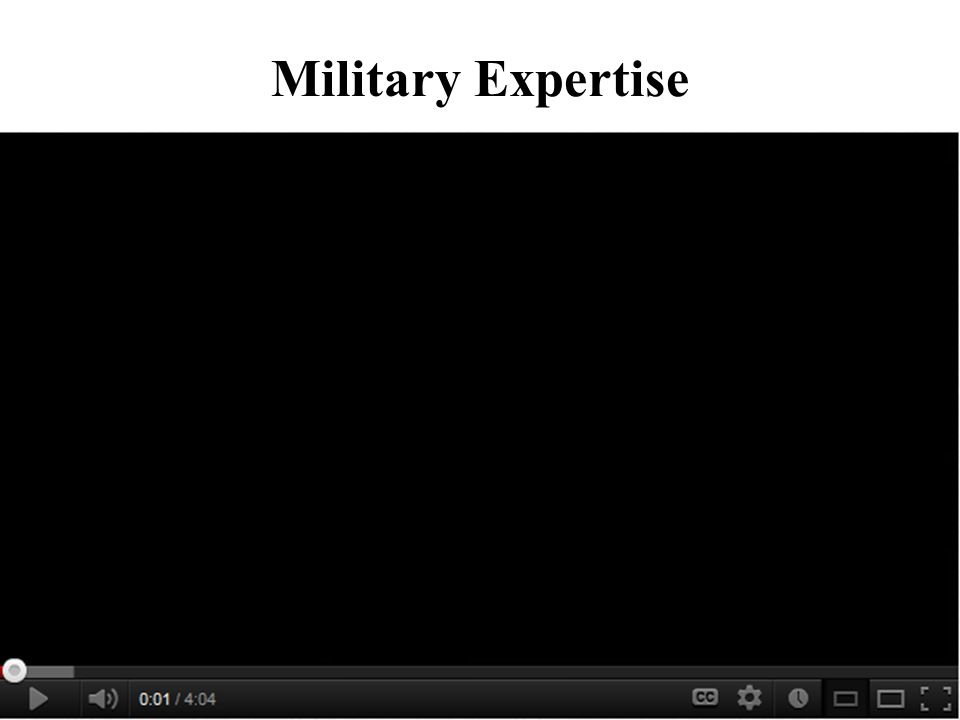What is Military Expertise.