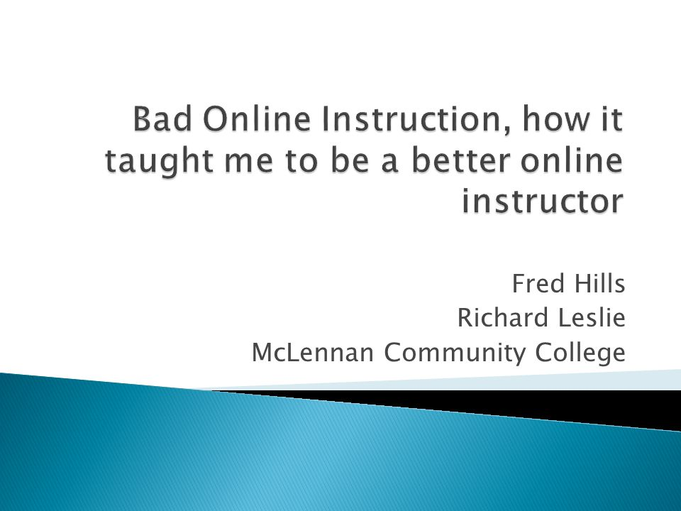 Fred Hills Richard Leslie McLennan Community College