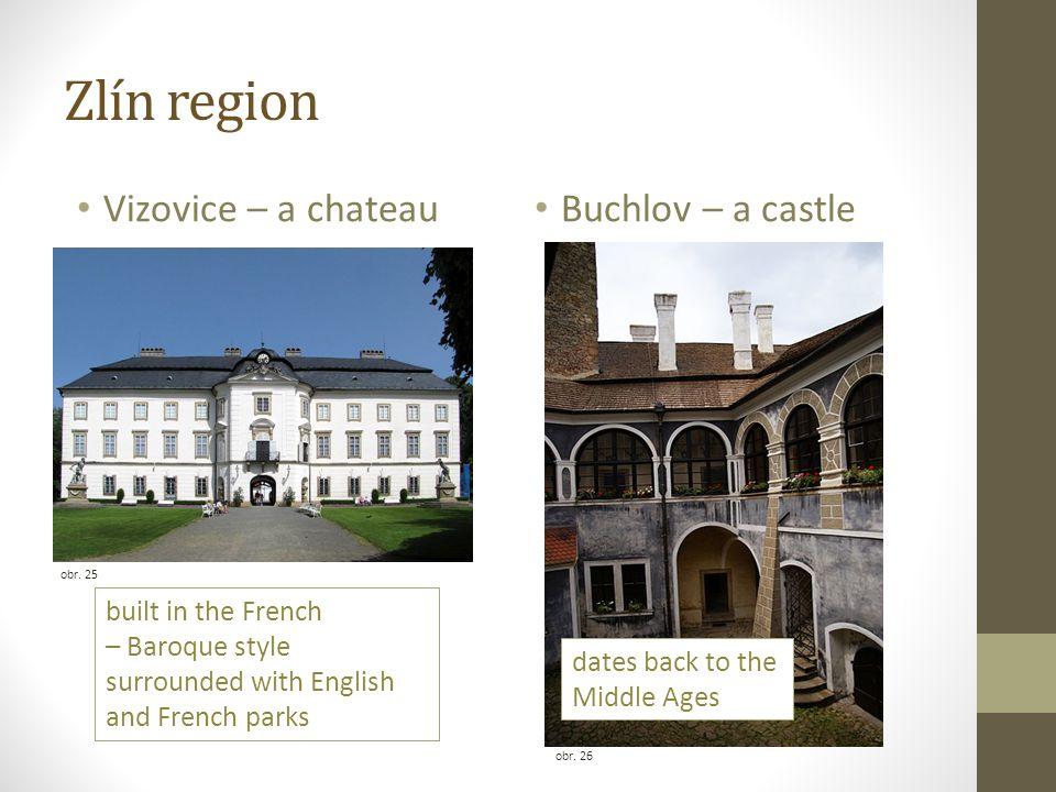Zlín region Vizovice – a chateau Buchlov – a castle obr.