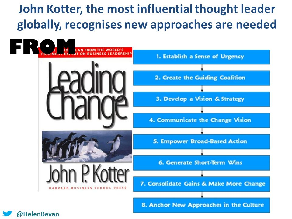 @HelenBevan John Kotter, the most influential thought leader globally, recognises new approaches are needed FROM