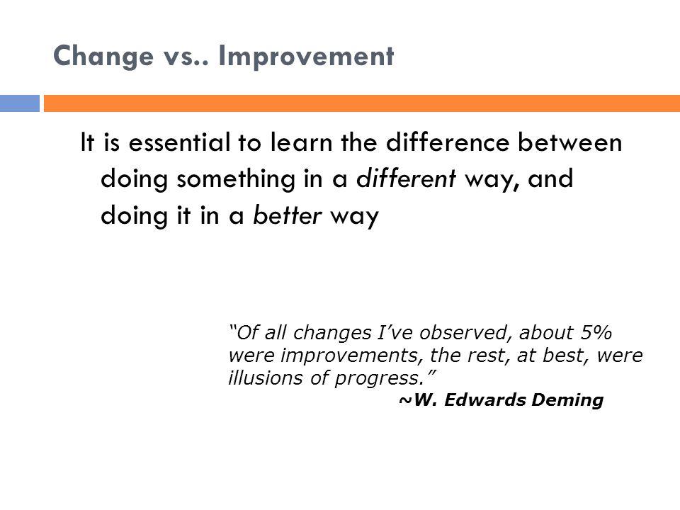 Change vs..