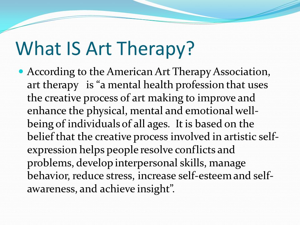 What IS Art Therapy.