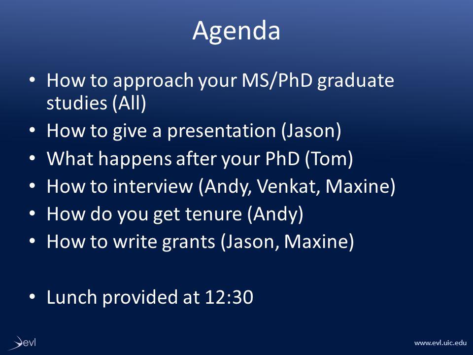 www.evl.uic.edu Tips on being an effective graduate student Version 2009