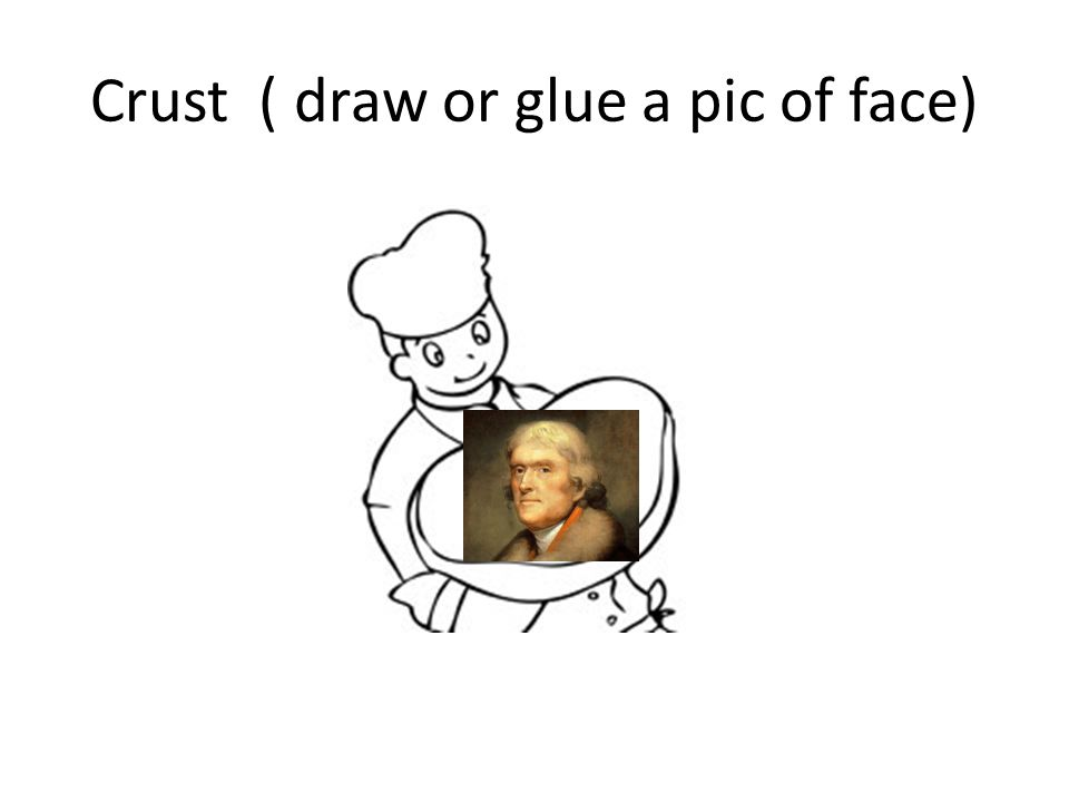 Crust ( draw or glue a pic of face)