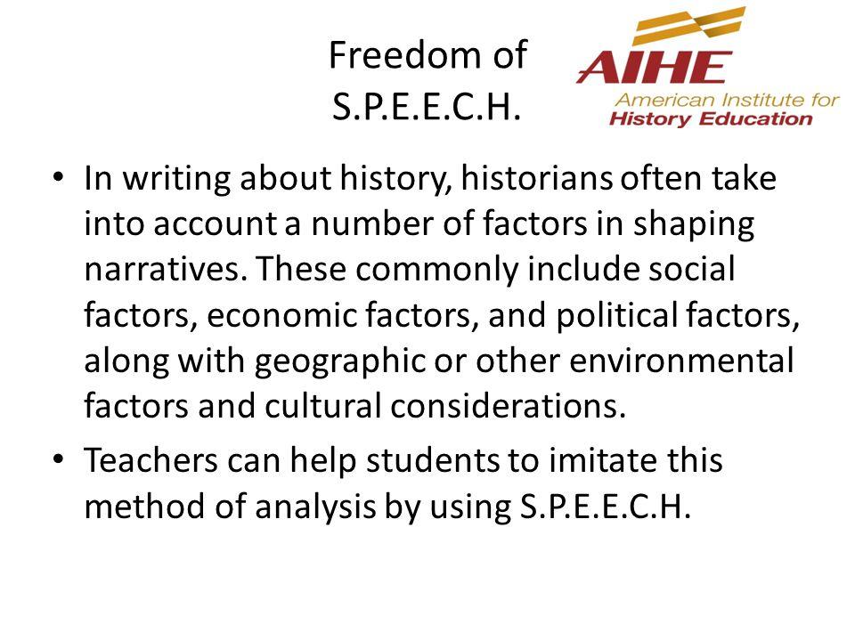 Freedom of S.P.E.E.C.H.