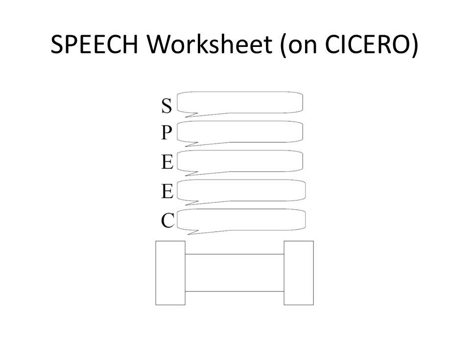 SPEECH Worksheet (on CICERO)