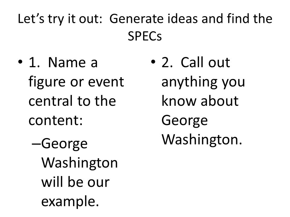 Write the facts on the pieces This is a great place for learning as students will be discussing content and relating them to themes that they've encountered in their class (using the notebook, SPECs-SPEECH, Read and Seed – What's Your Address, etc.