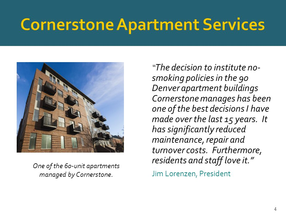  350 apartment buildings and two condos. All properties managed by Shea and McWhinney.