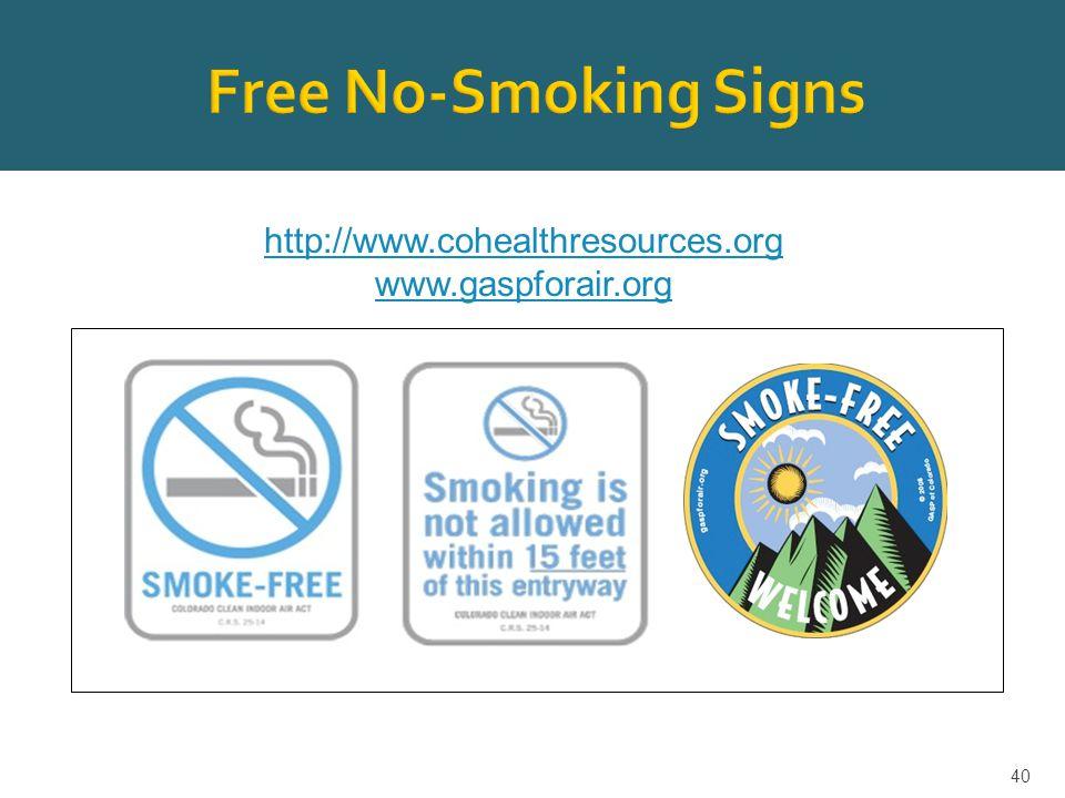 40 http://www.cohealthresources.org www.gaspforair.org