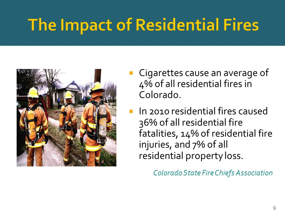  Colorado's Clean Indoor Air Act prohibits smoking in all indoor common areas and specifically allows housing providers to prohibit tobacco and/or marijuana smoking in all or any part of their property, both indoors and outdoors.