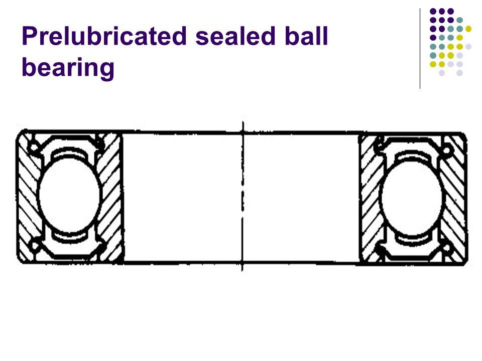 Prelubricated sealed ball bearing