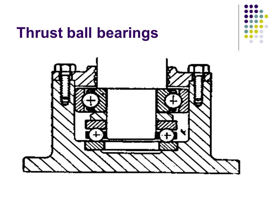 Thrust ball bearings