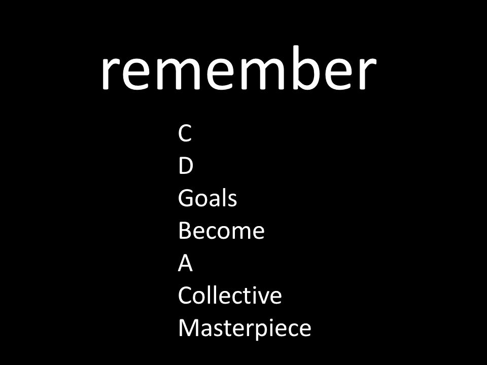 remember C D Goals Become A Collective Masterpiece