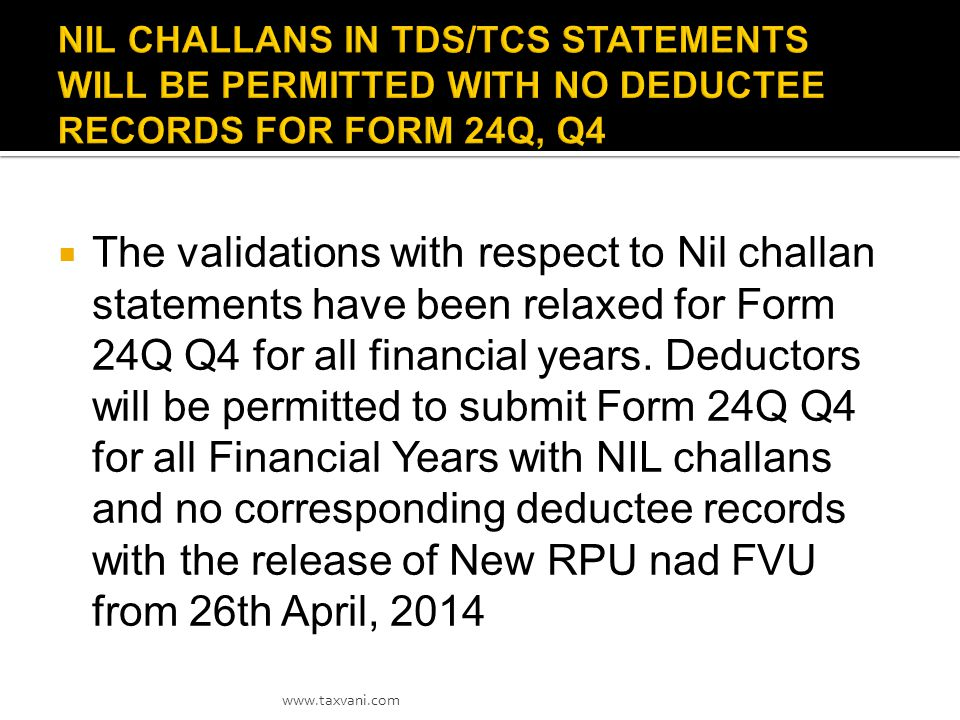 A new facility(option) has been opened at TDS CPC on traces in respect of Nil Returns.