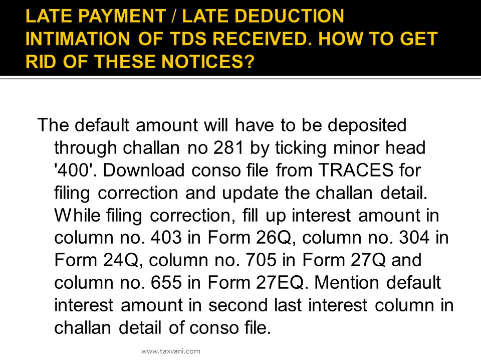 In order to request for Duplicate Provisional Receipt, the Deductor may send the letter at tin_tds@nsdl.co.in mentioning all the below details.tin_tds@nsdl.co.in 1.