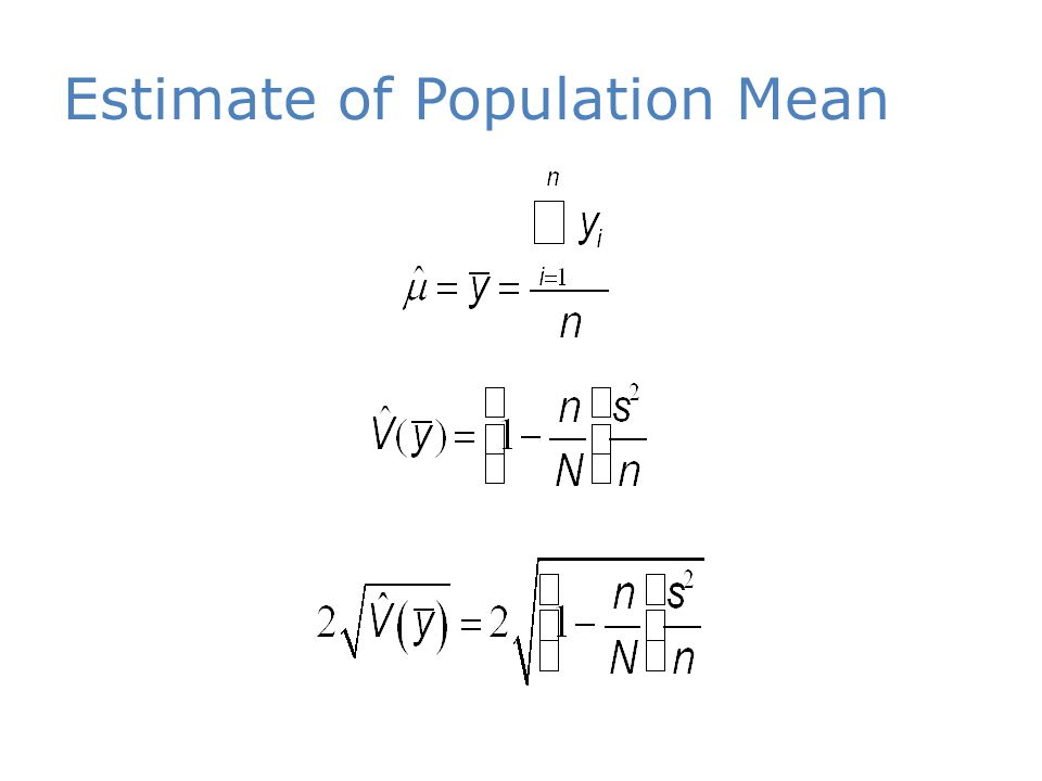 Estimate of Population Mean