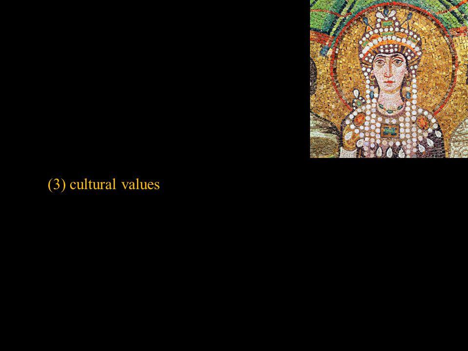 (3) cultural values