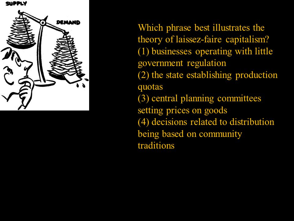 Which phrase best illustrates the theory of laissez-faire capitalism.