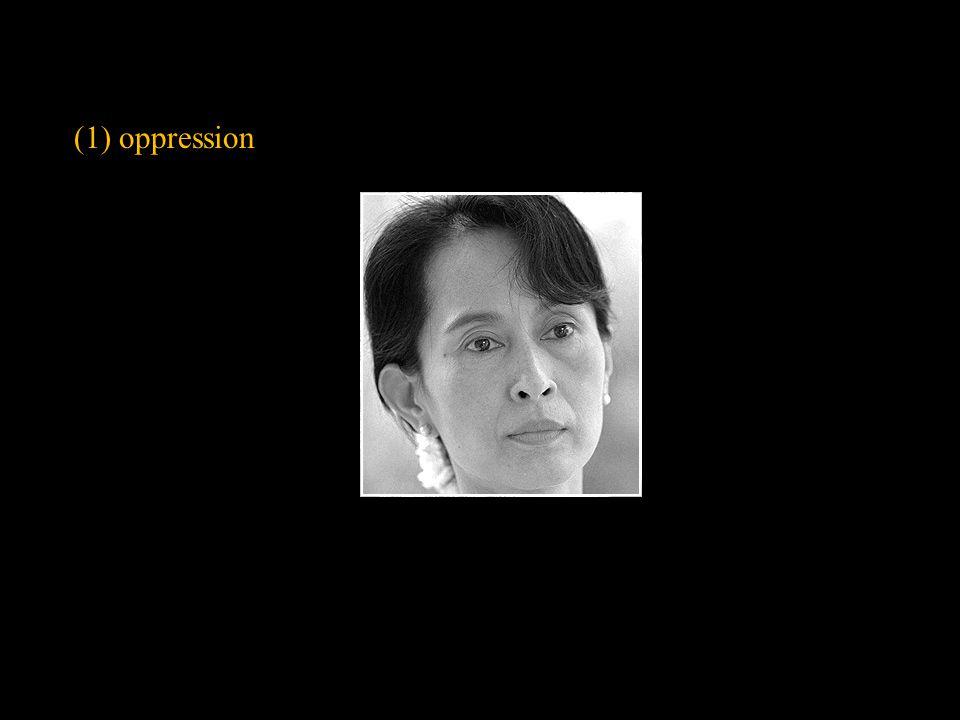 (1) oppression