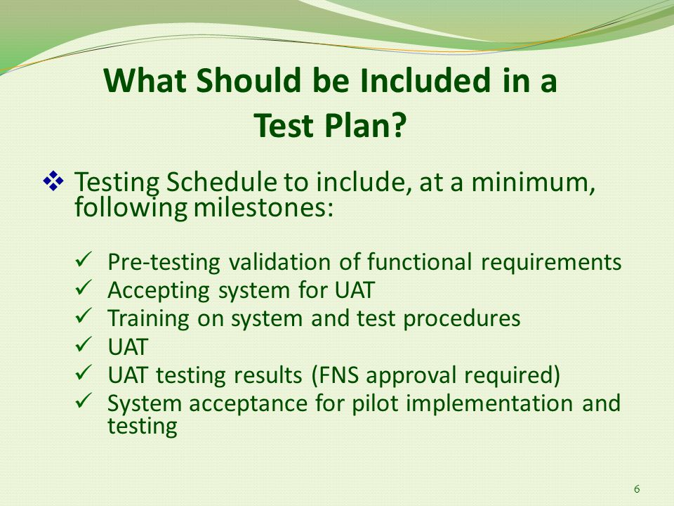 What Should be Included in a Test Plan.
