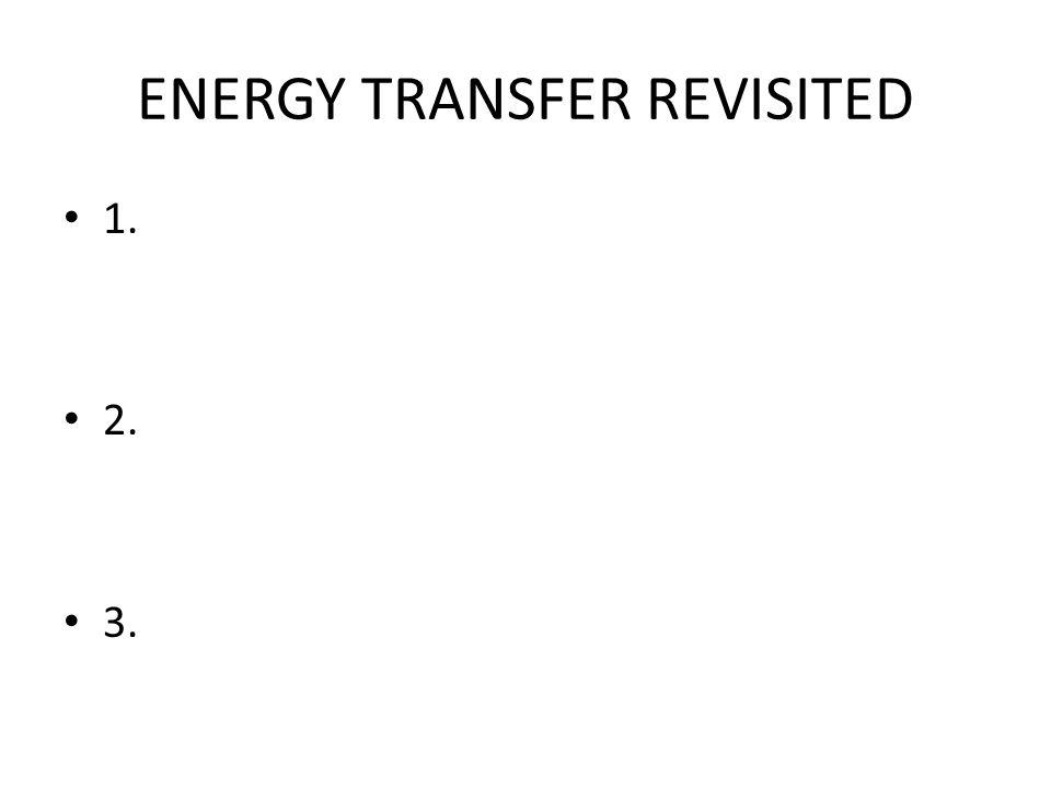 ENERGY TRANSFER REVISITED 1. 2. 3.