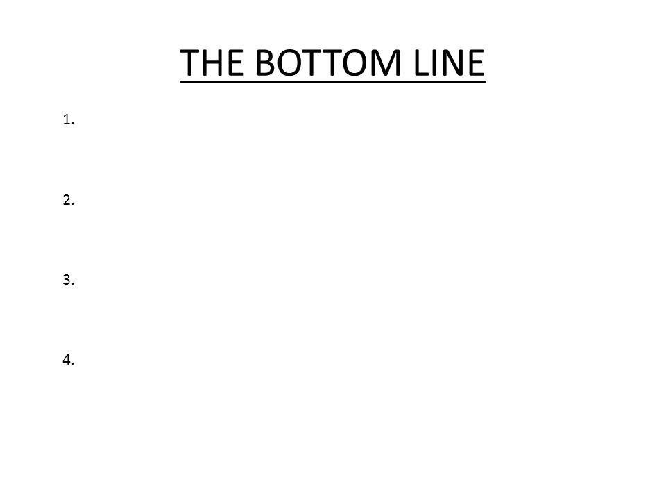 THE BOTTOM LINE 1. 2. 3. 4.