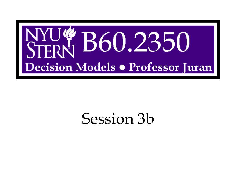 Decision Models -- Prof. Juran22 1