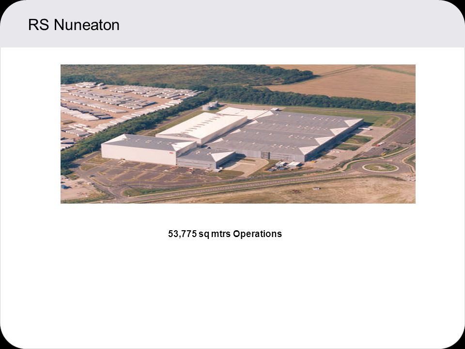 RS Nuneaton 53,775 sq mtrs Operations