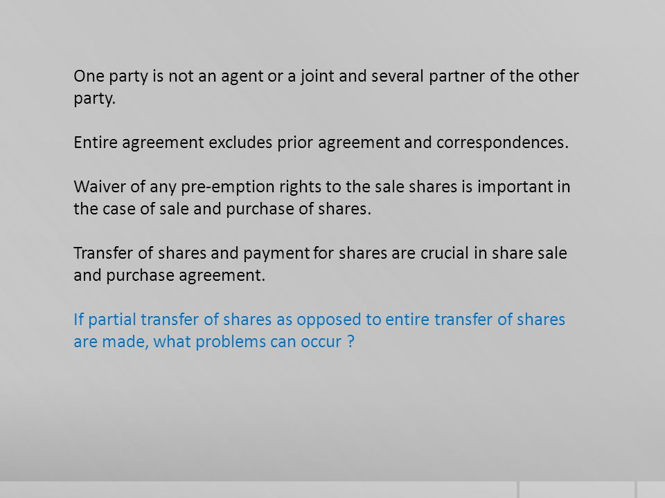 Validity of transfer of shares between a seller and a purchaser is different from validity of transfer of shares against a third party.