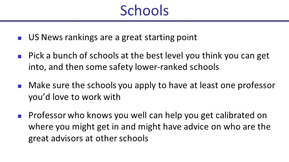 In short, because everyone thinks they matter In long, Students tend to go to the highest ranked school they get into Faculty tend to go the highest ranked school they can be at Collaborating with and being surrounded by stronger students and faculty tends to make you achieve more Why do the rankings matter?