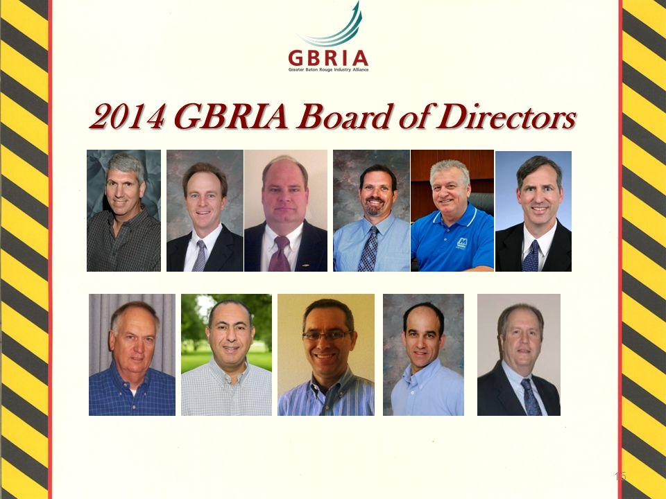 2014 GBRIA Board of Directors 15