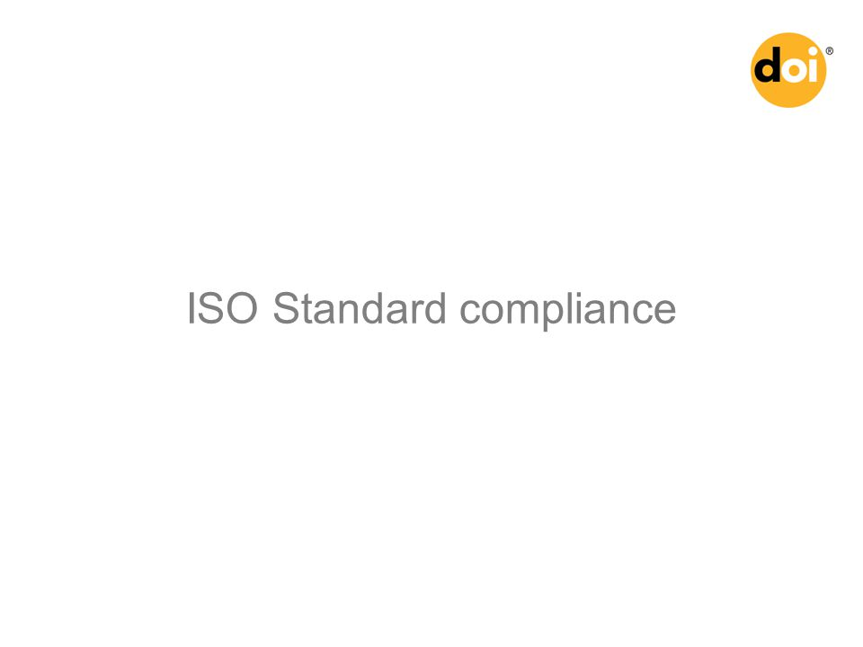 ISO Standard compliance