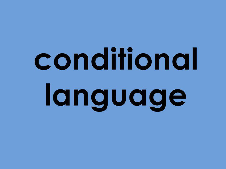 conditional language